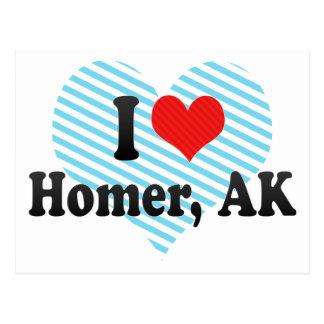 I Love Homer, AK Postcard