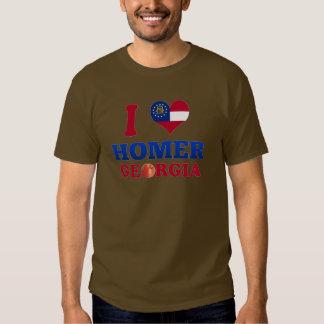 I Love Homer, Georgia T Shirts