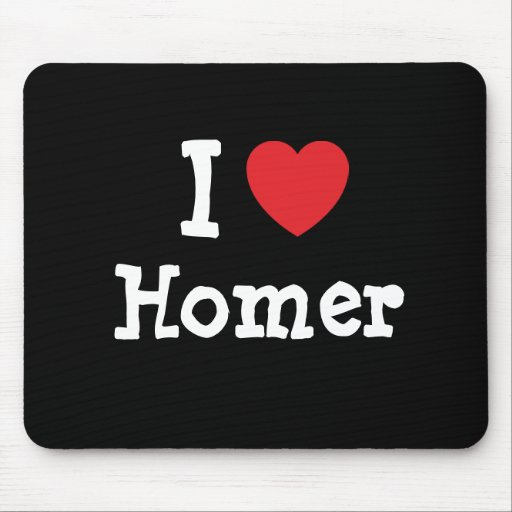 I love Homer heart custom personalized Mouse Pad