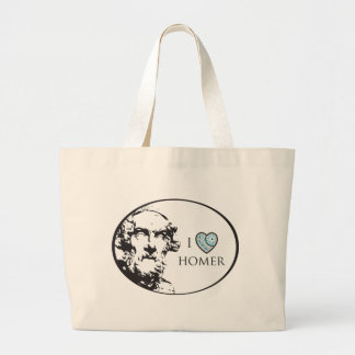 I Love Homer Large Tote Bag