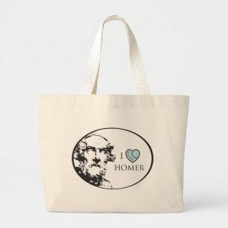 I Love Homer Large Tote Bag