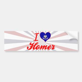 I Love Homer, Louisiana Bumper Stickers