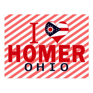 I love Homer, Ohio Post Cards