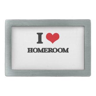 I love Homeroom Rectangular Belt Buckle