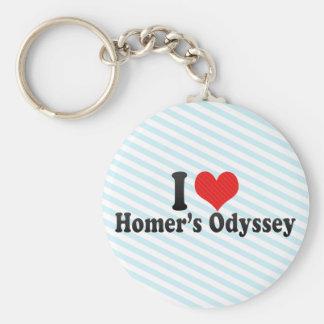 I Love Homer's Odyssey Basic Round Button Keychain