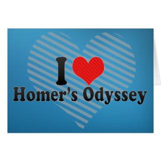 I Love Homer's Odyssey Greeting Card