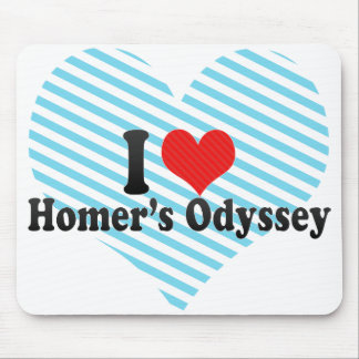I Love Homer's Odyssey Mouse Pad