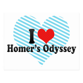 I Love Homer's Odyssey Post Cards