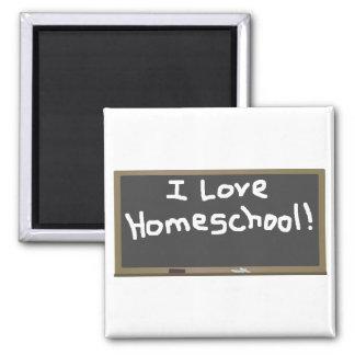 I Love Homeschool! 2 Inch Square Magnet