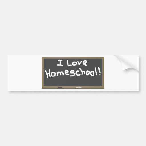 I Love Homeschool! Car Bumper Sticker