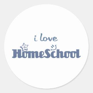 i Love Homeschool Classic Round Sticker