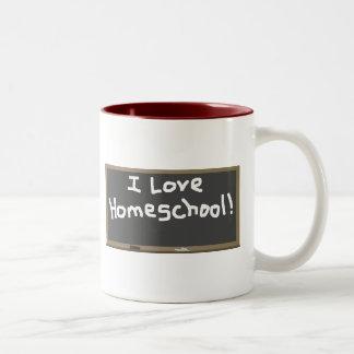 I Love Homeschool! Two-Tone Coffee Mug