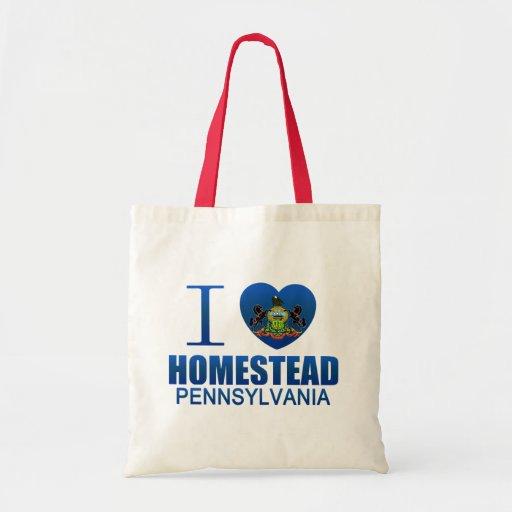 I Love Homestead, PA Canvas Bag