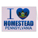 I Love Homestead, PA Card