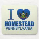 I Love Homestead, PA Mousepads