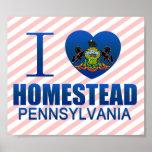 I Love Homestead, PA Print