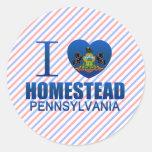 I Love Homestead, PA Round Sticker