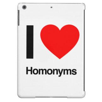 i love homonyms iPad air covers