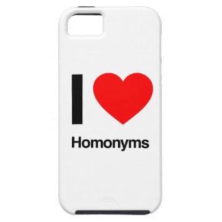 i love homonyms iPhone 5/5S case