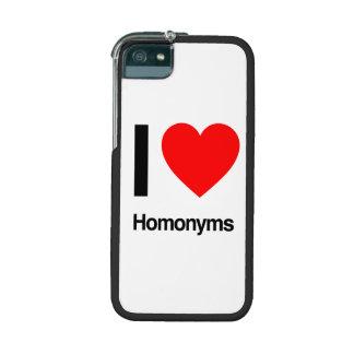 i love homonyms iPhone 5 case