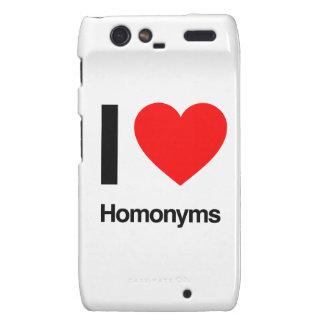 i love homonyms droid RAZR case