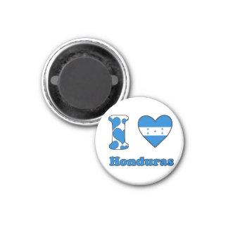 I love Honduras 1 Inch Round Magnet