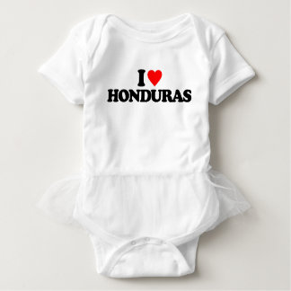 I LOVE HONDURAS BABY BODYSUIT
