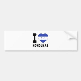 I Love Honduras Car Bumper Sticker