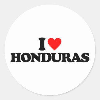 I LOVE HONDURAS CLASSIC ROUND STICKER