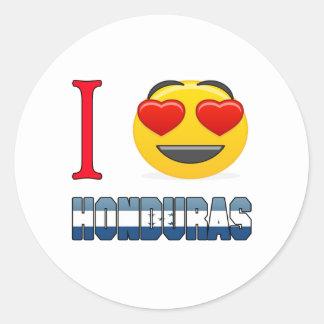 I love HONDURAS. Classic Round Sticker