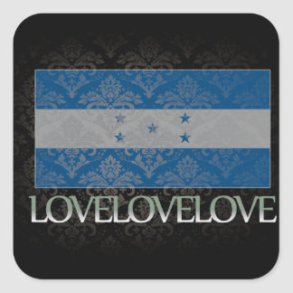 I love Honduras Cool Square Sticker