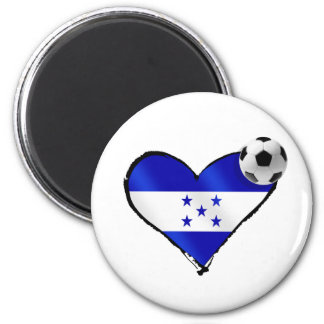 I love Honduras futbol - Soccer ball flag heart Fridge Magnet