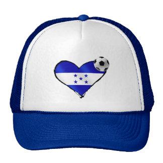I love Honduras futbol - Soccer ball flag heart Trucker Hat
