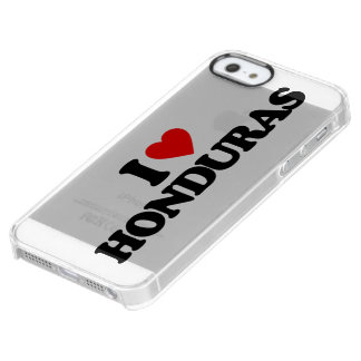 I LOVE HONDURAS UNCOMMON CLEARLY™ DEFLECTOR iPhone 5 CASE