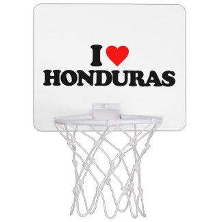 I LOVE HONDURAS MINI BASKETBALL BACKBOARDS