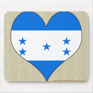 I Love Honduras Mouse Pads