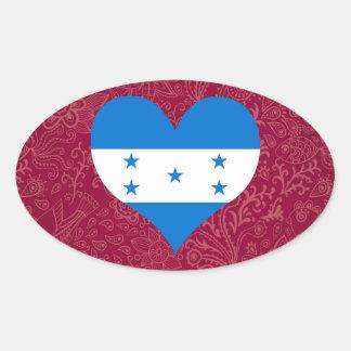 I Love Honduras Oval Sticker