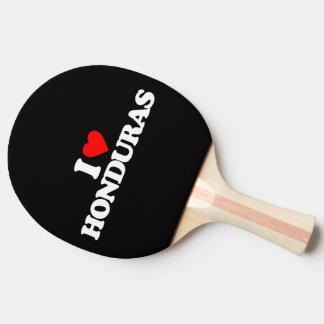I LOVE HONDURAS PING PONG PADDLE