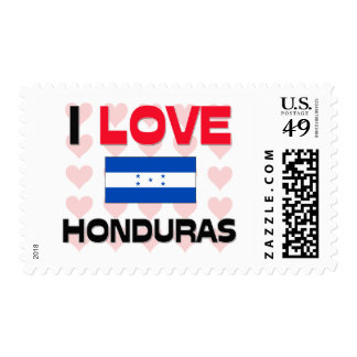 I Love Honduras Postage Stamps