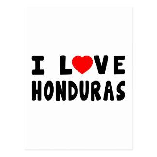 I Love Honduras Postcard