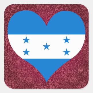 I Love Honduras Square Sticker