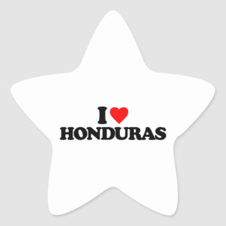 I LOVE HONDURAS STAR STICKER