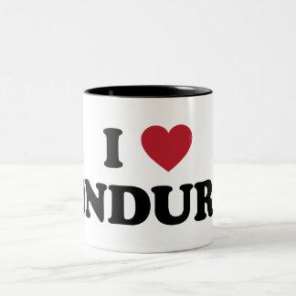 I Love Honduras Two-Tone Coffee Mug