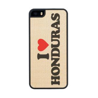 I LOVE HONDURAS CARVED® MAPLE iPhone 5 SLIM CASE