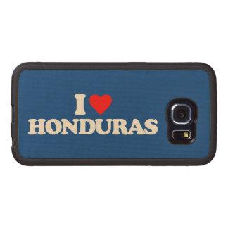I LOVE HONDURAS WOOD PHONE CASE