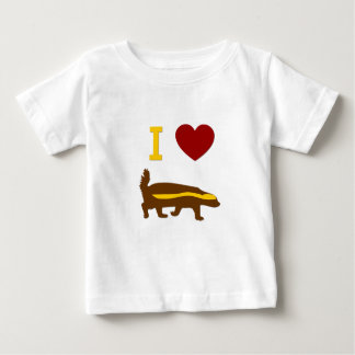 I Love Honey Badger Baby T-Shirt