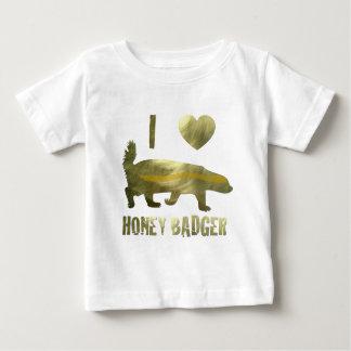 I Love Honey Badger Baby T-Shirt