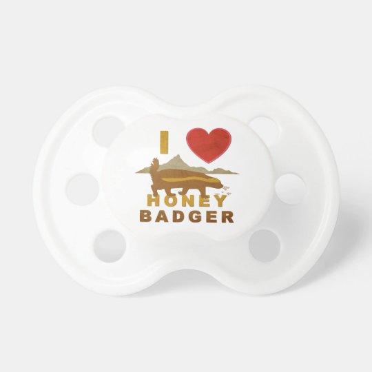 I LOVE HONEY BADGER PACIFIER