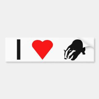 I love honey badgers bumper sticker