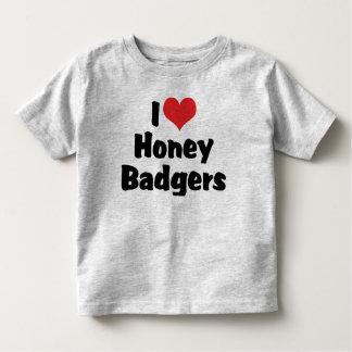 I Love Honey Badgers Tee Shirt